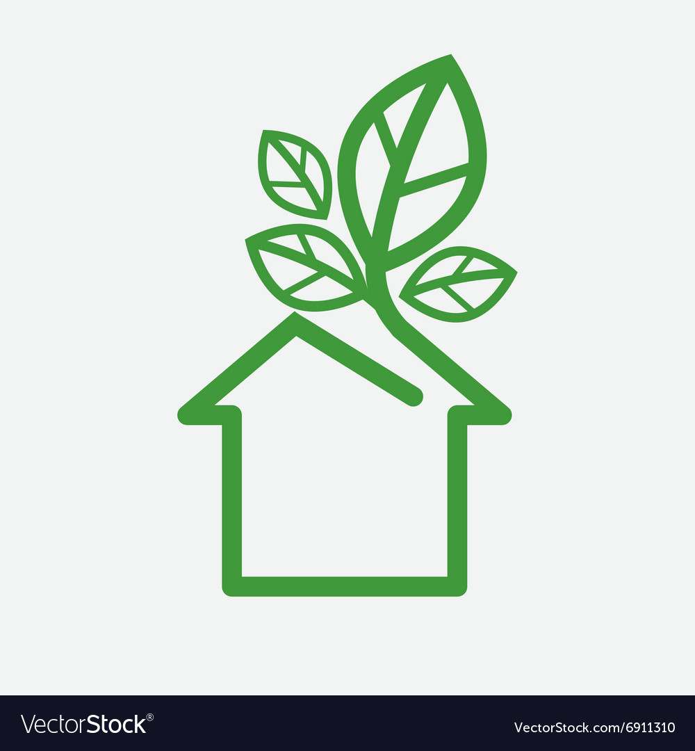 House With Green Leaves Ecology Concept Ill