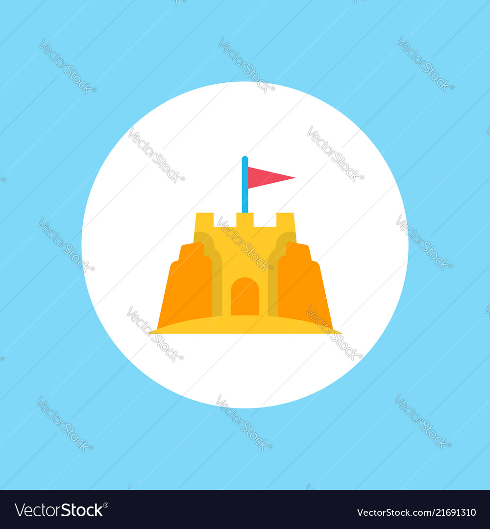 Sand castle icon sign symbol