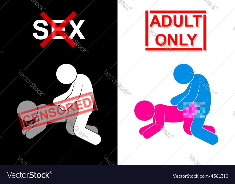 Sexual Intercourse symbol was censored vector image