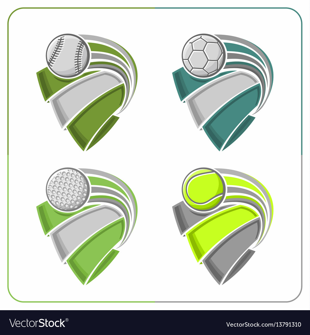 Sports balls ribbons