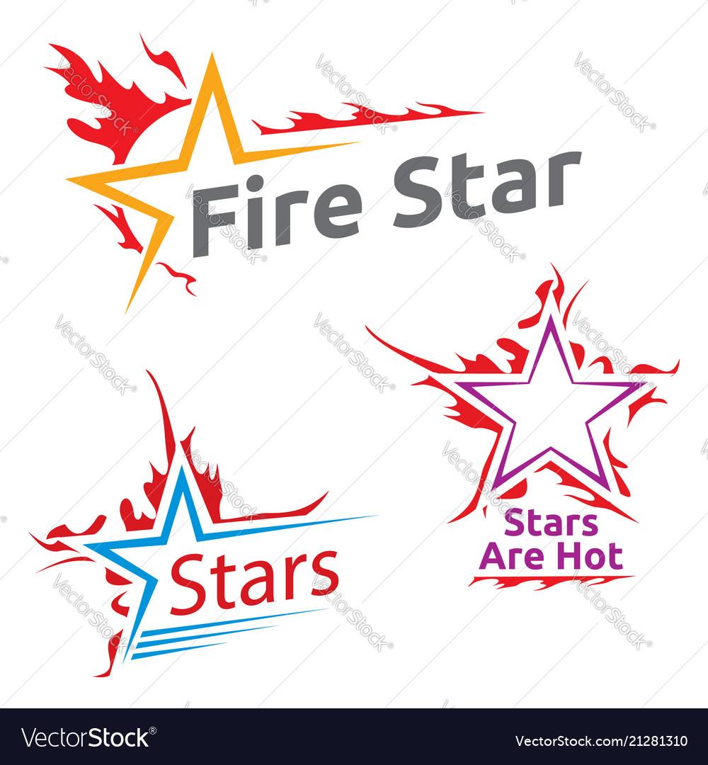 Symbols Of Burning Stars Royalty Free Vector Image