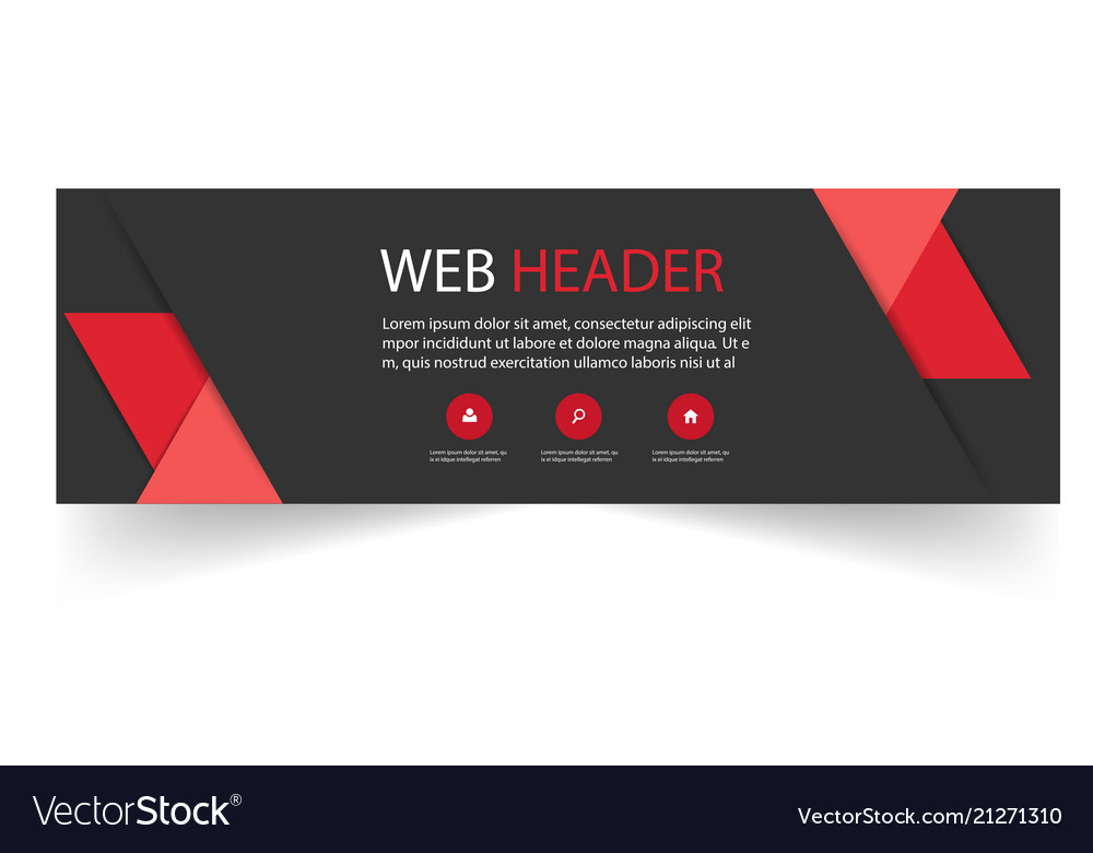 Web header modern red black background imag