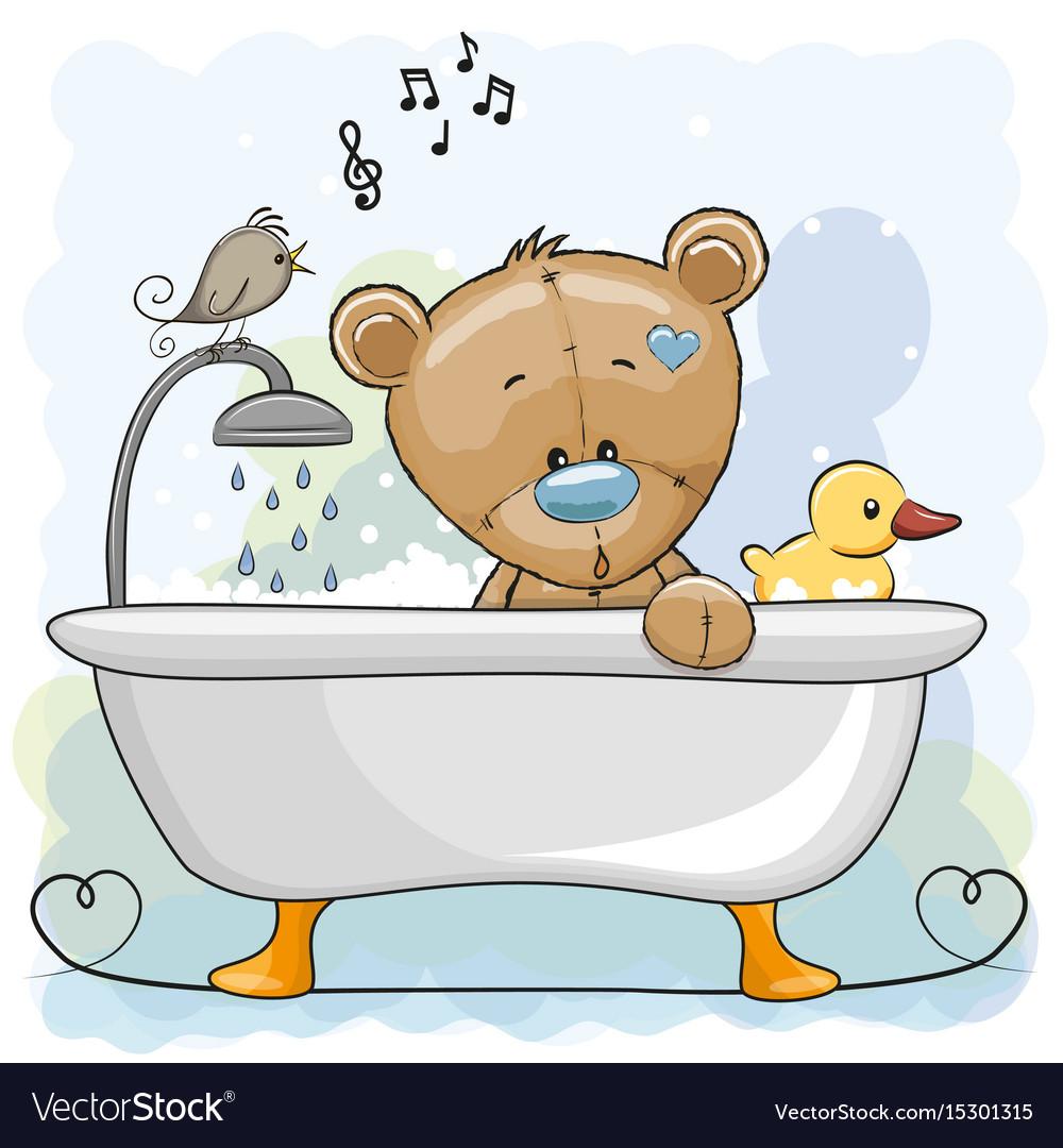 картинки медведь под душем подножия