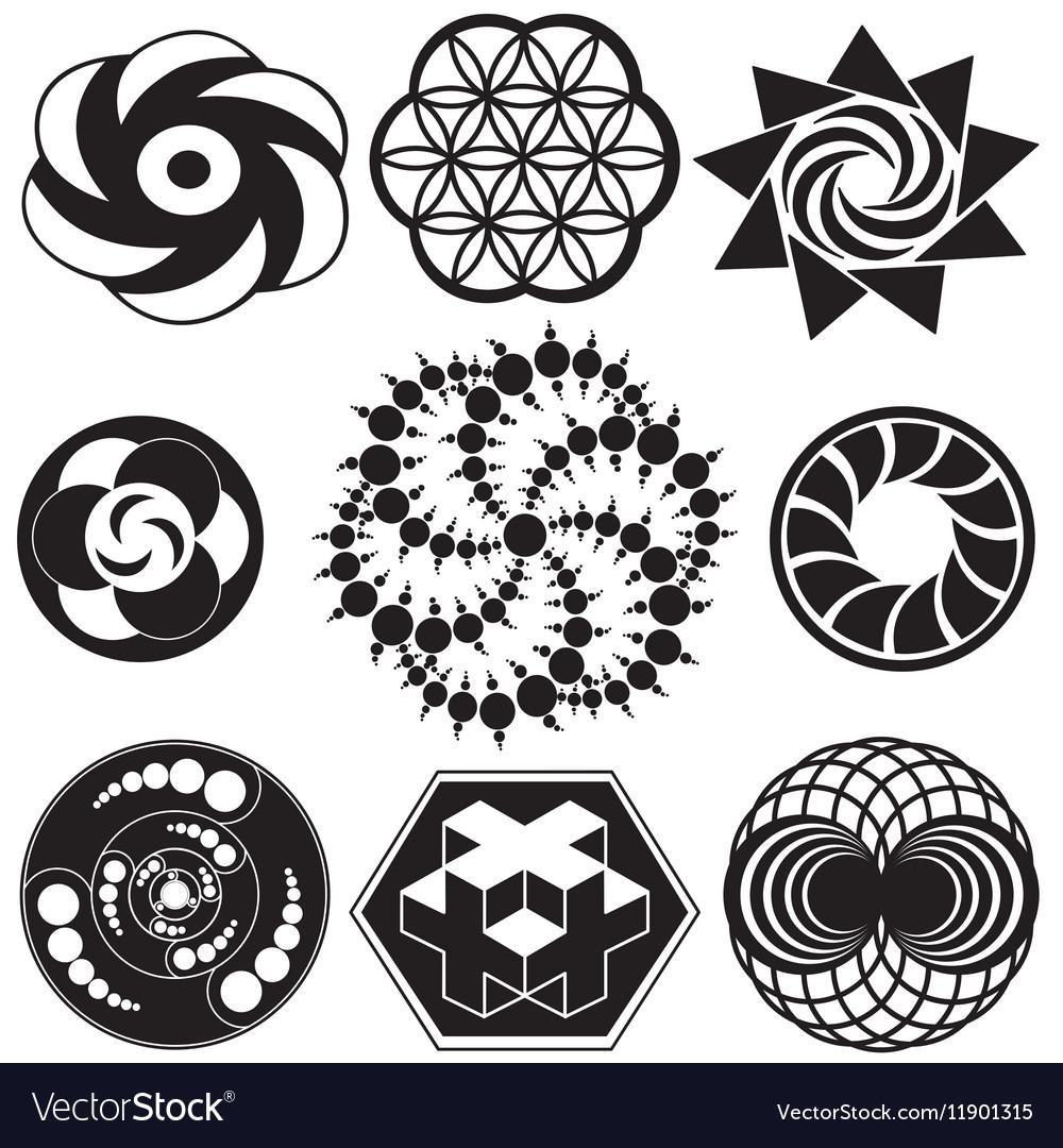 crop circle designs royalty free vector image