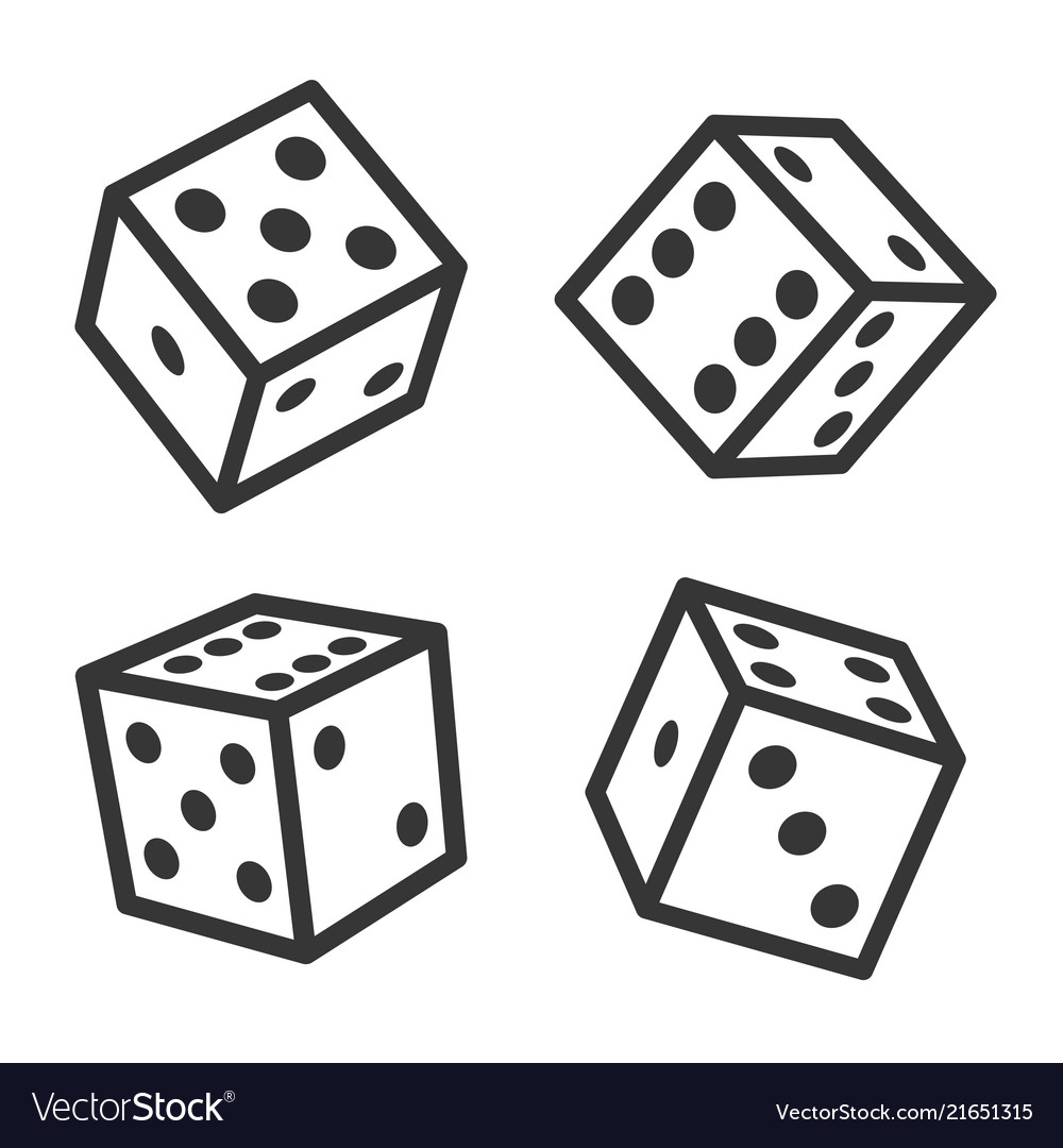 Dice cubes set on white background vector