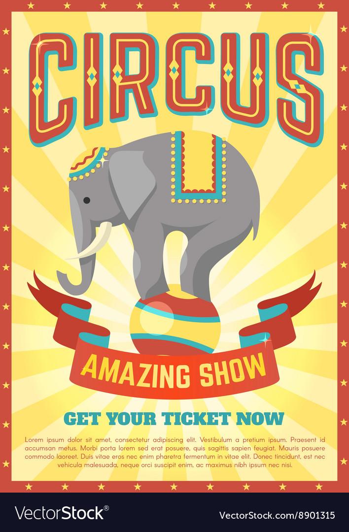 Flat Circus Poster vector image