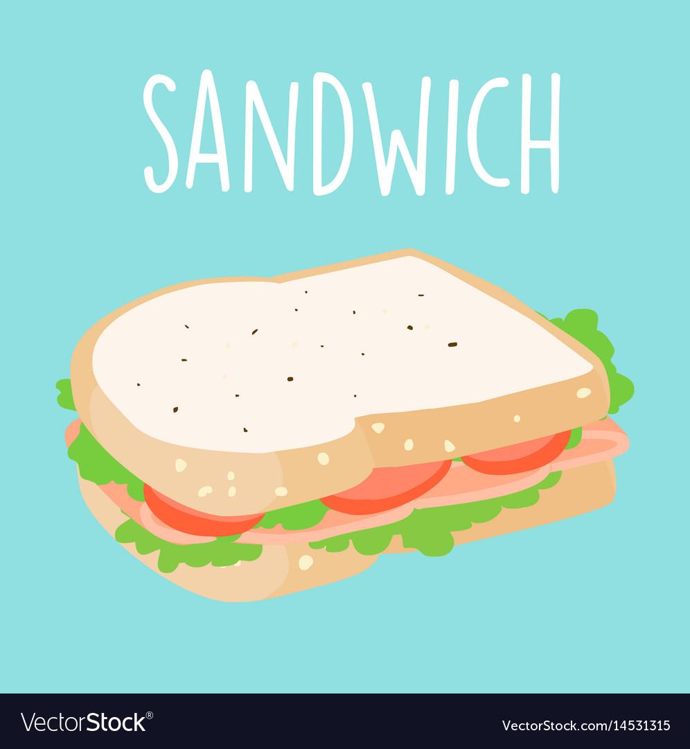 Fresh ham sandwich graphic