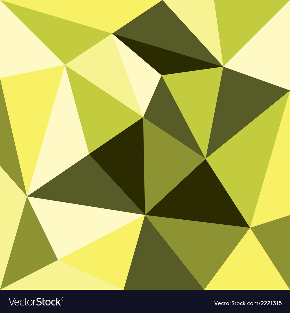 Green And Yellow Triangle Background Or Pattern Vector Image