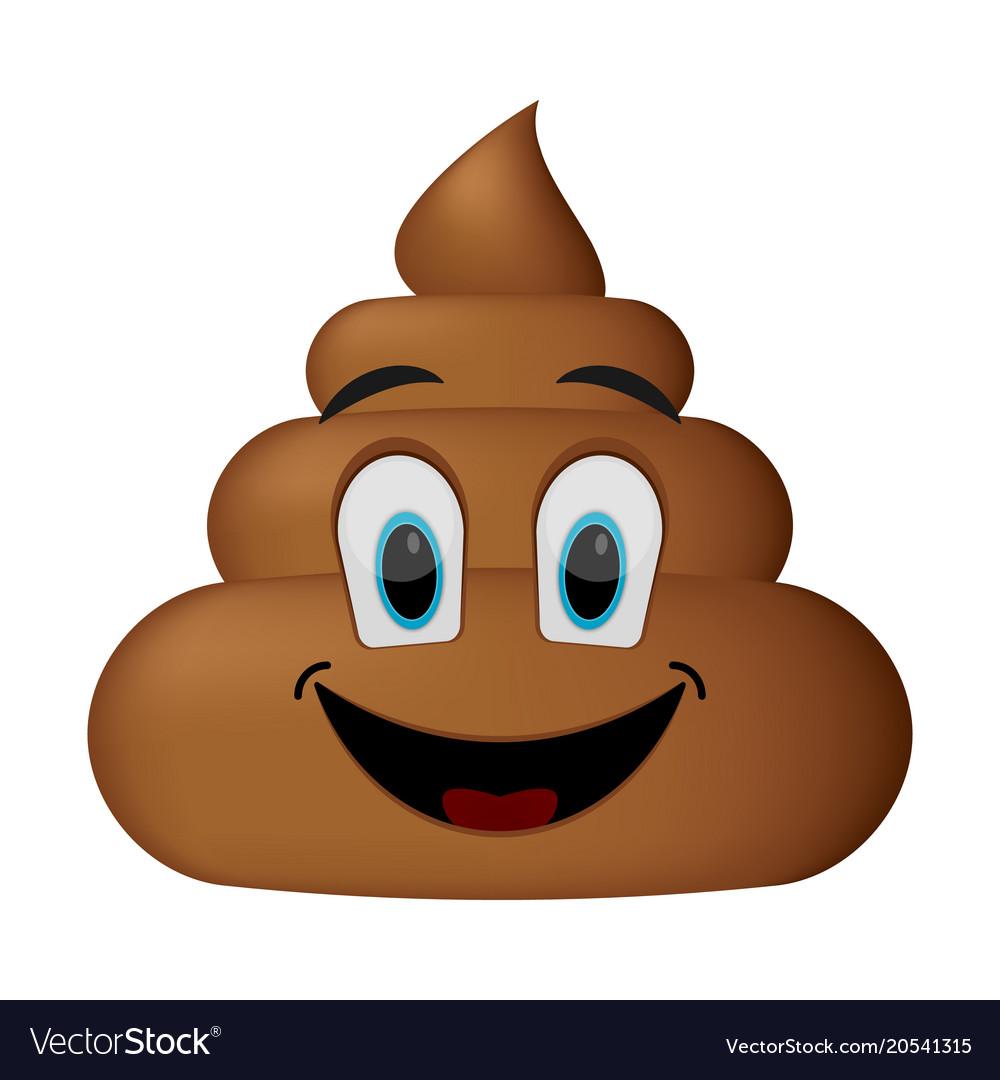 Shit icon smiling face poop emoticon