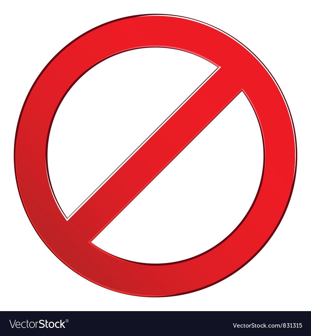 Sign forbidden empty