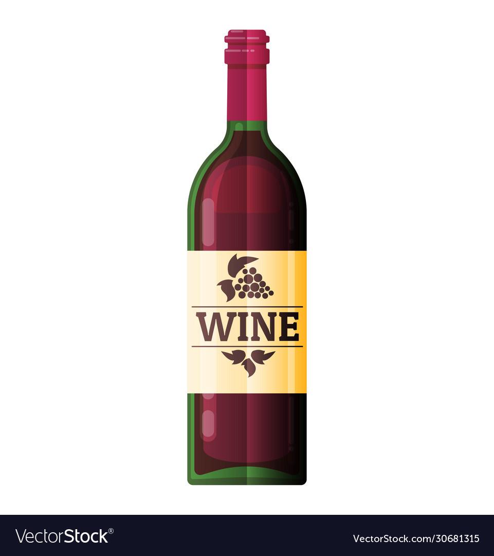 Wine bottle flat wine bottle icon