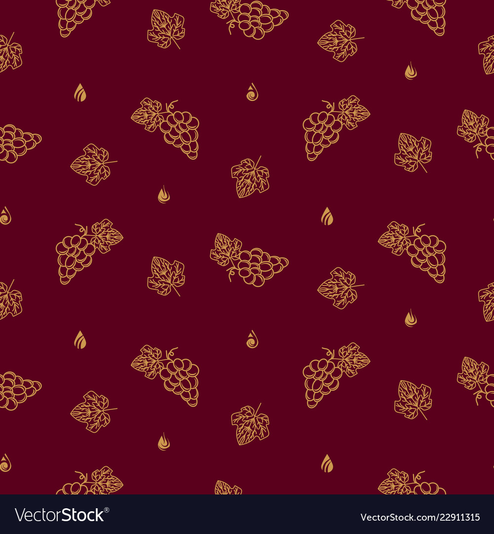 Winery seamless pattern icons in linear