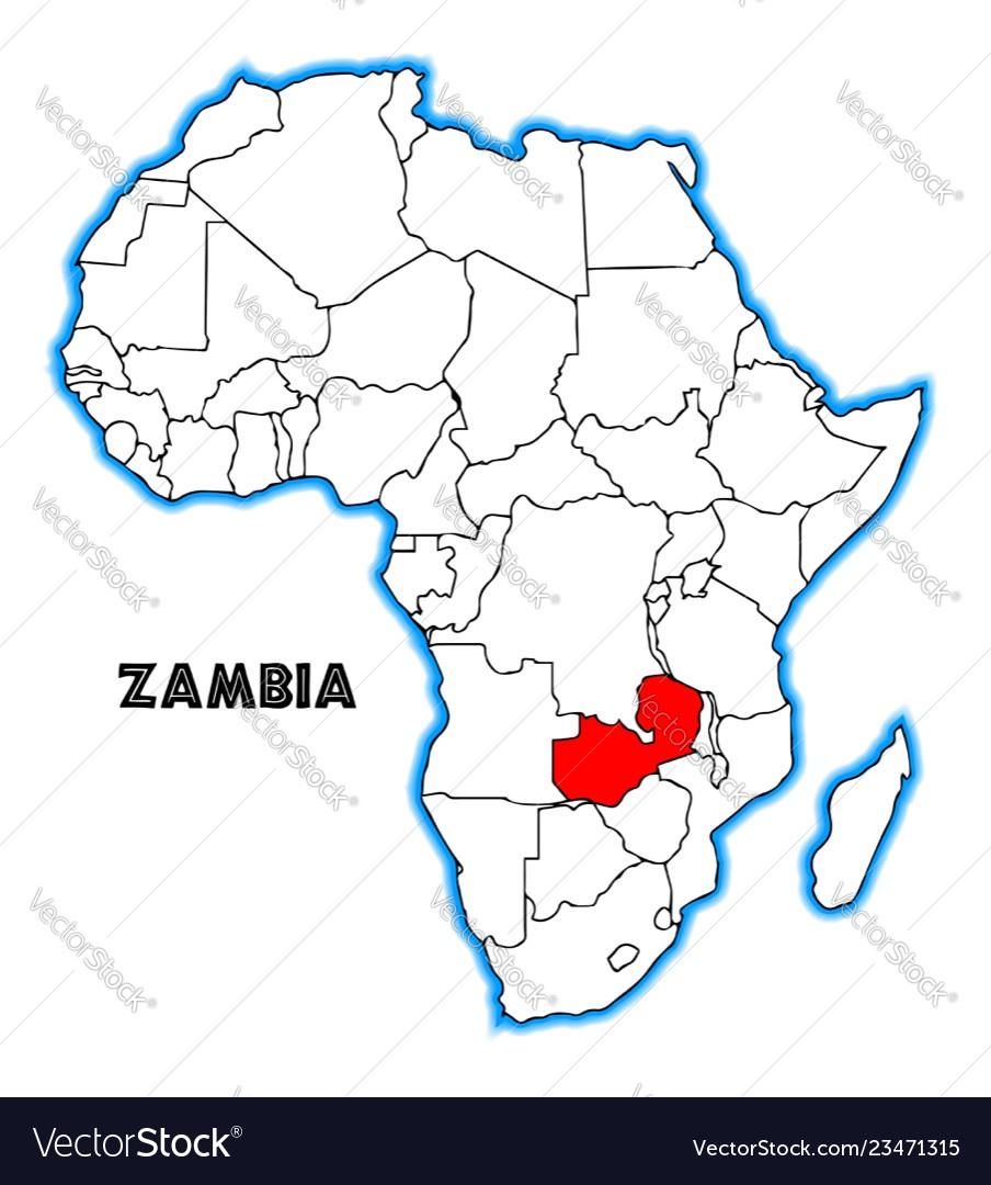 Zambia Royalty Free Vector Image - VectorStock