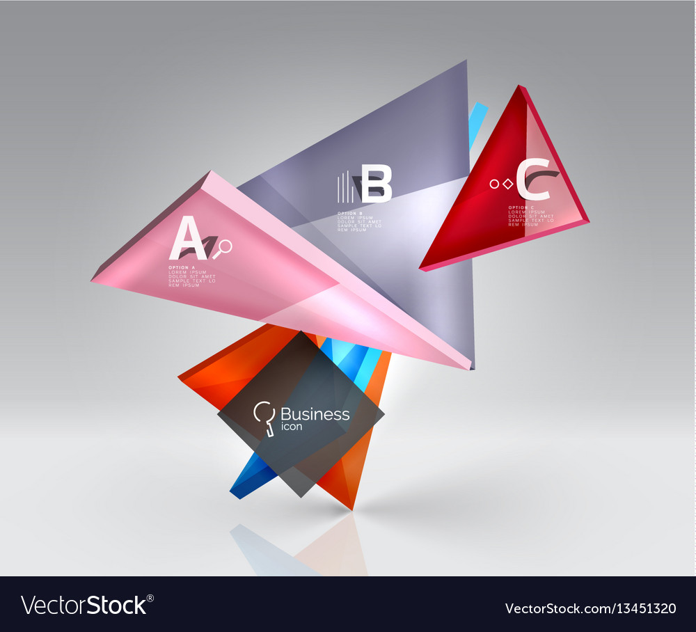 3d triangle abstract background