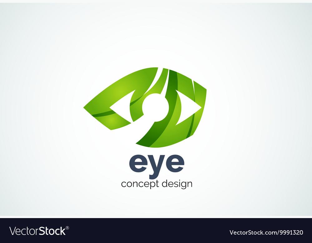 Abstract business company human eye logo template
