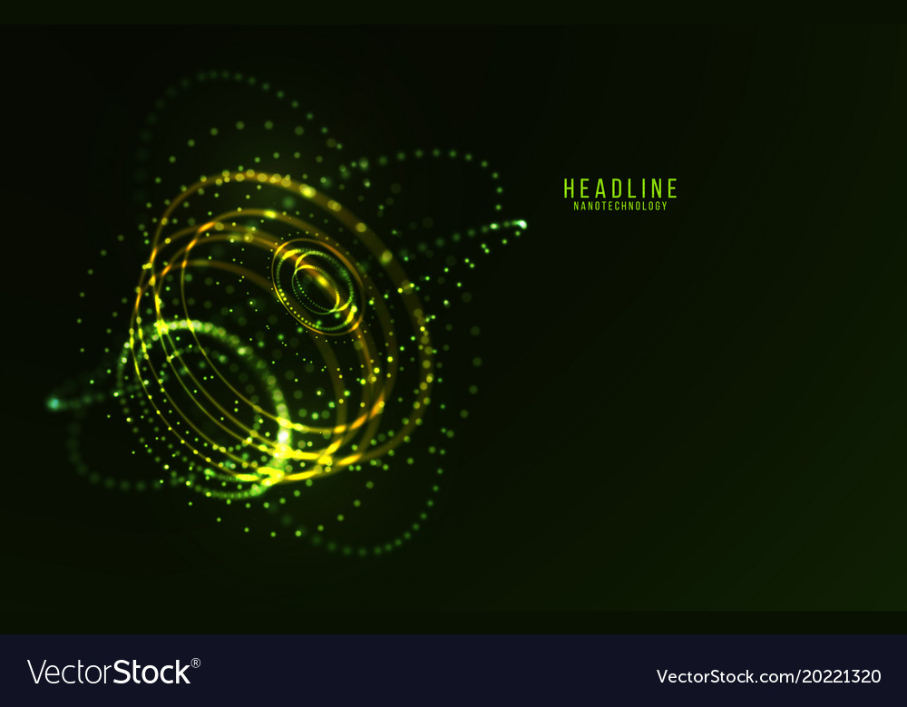 Abstract futuristic hud 3d object
