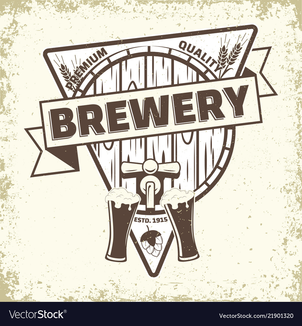 Craft beer emblem design
