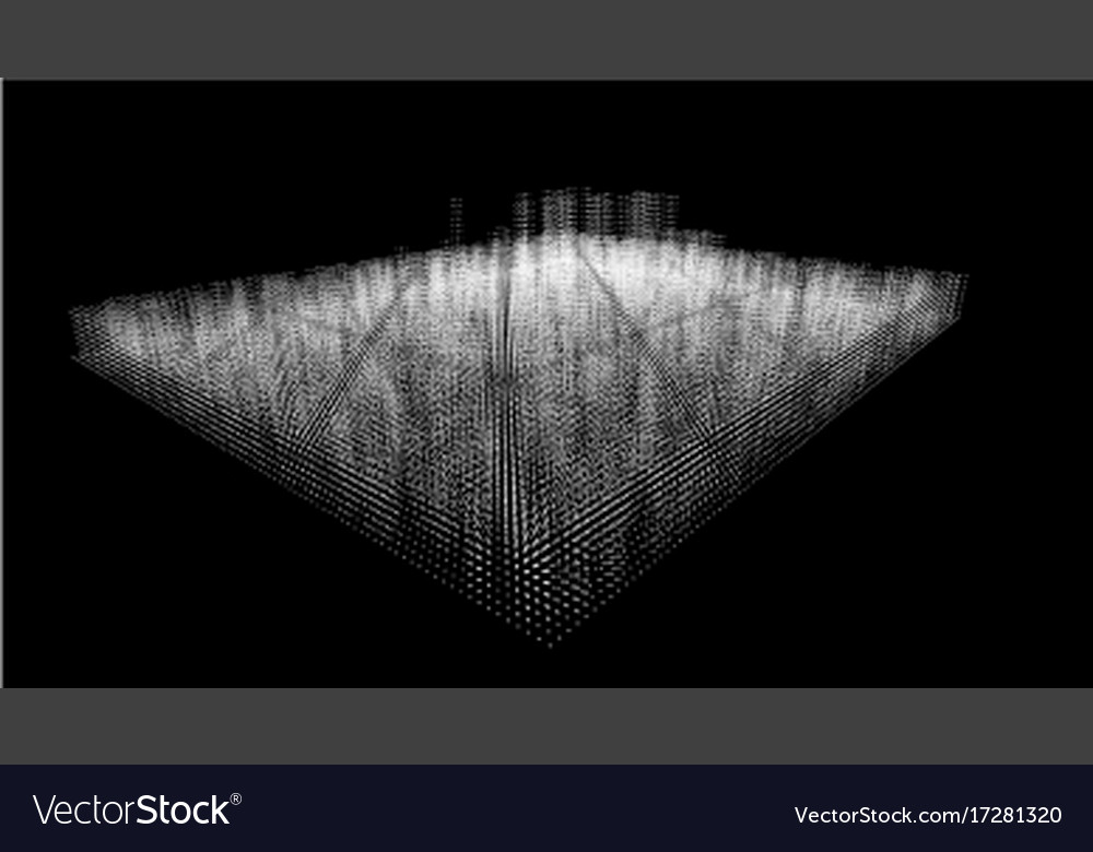 Distributed database large data from white dots on vector image