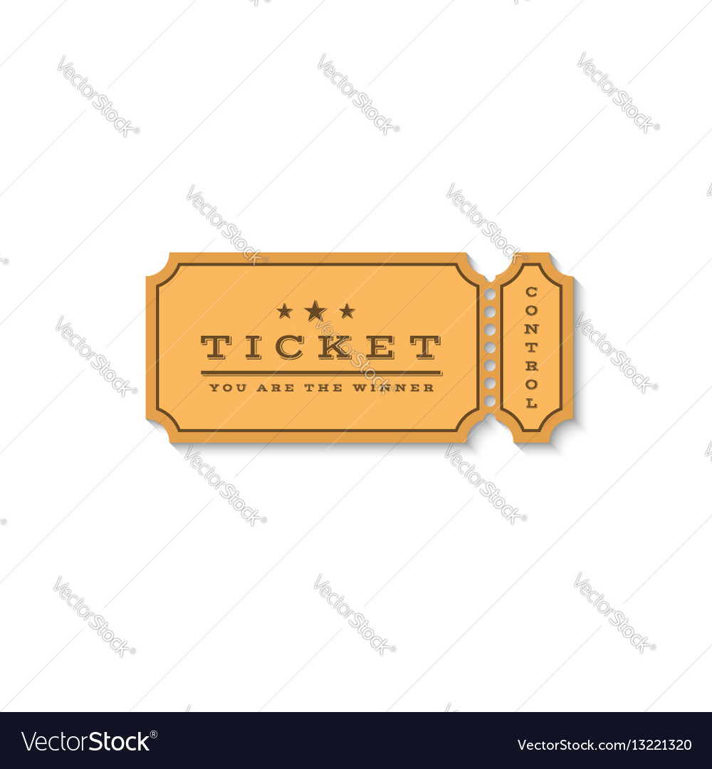 Paper ticket mockup logo cardboard coupon for the