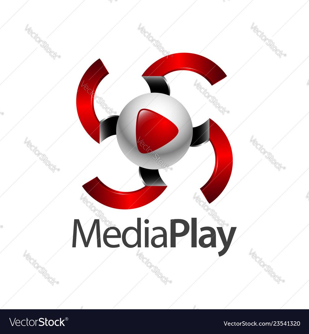 Swirl sphere media play logo concept design