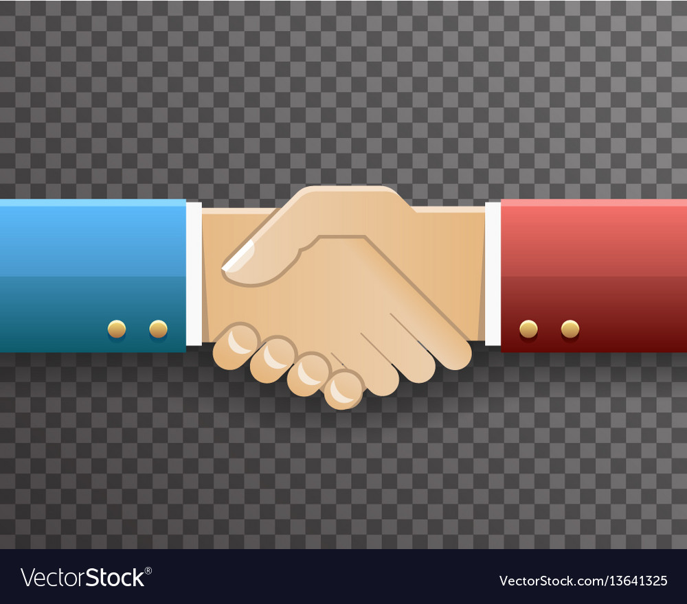 Businessman handshake partnership symbol