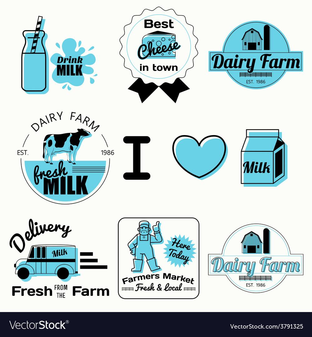 Dairy badges black