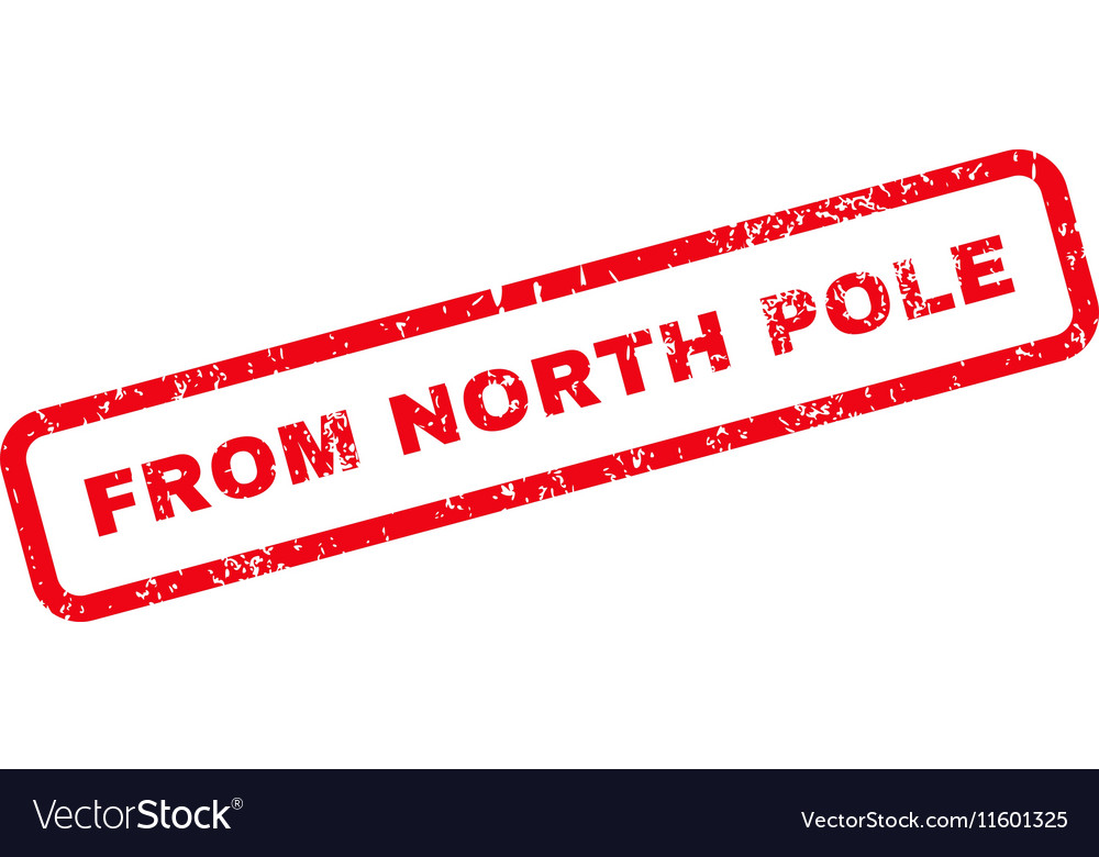 From North Pole Text Rubber Stamp Vector Image