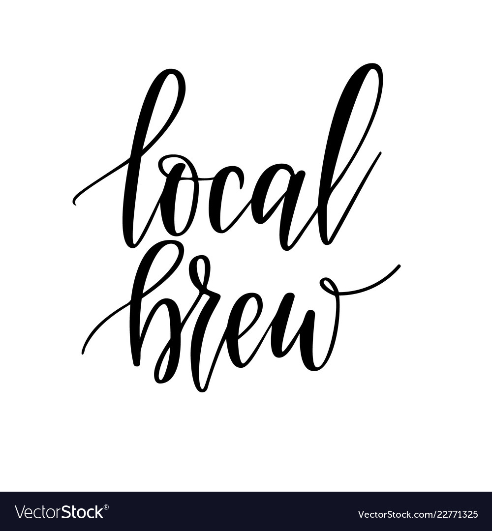 Local beer lettering design for craft
