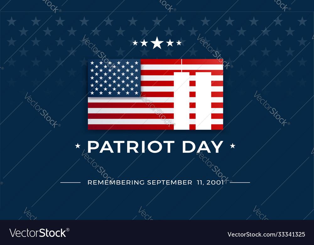 Patriot day background - 911 september 11 2001