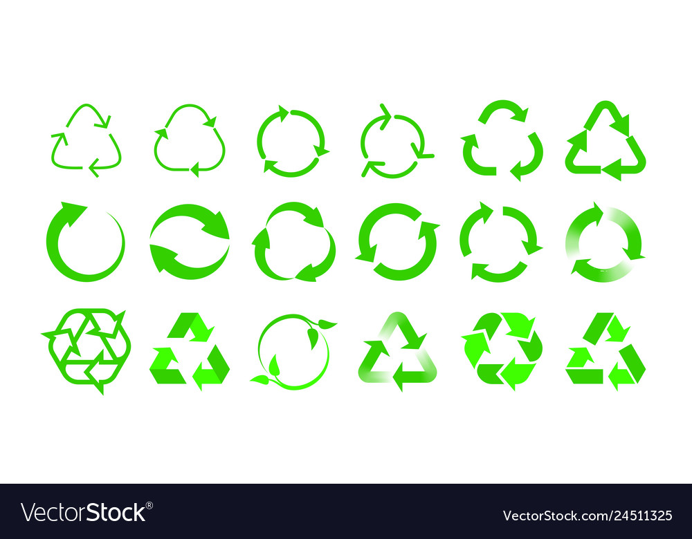 Recycle icons bio reuse package label templates