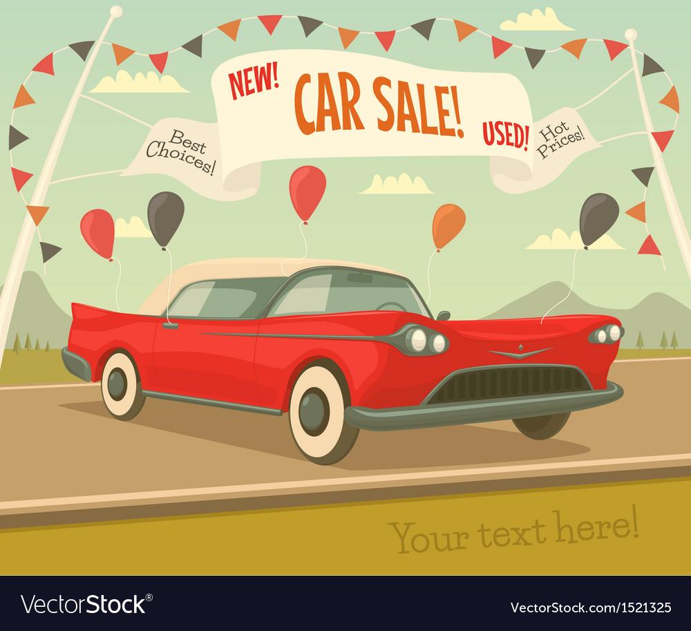 Retro car sale