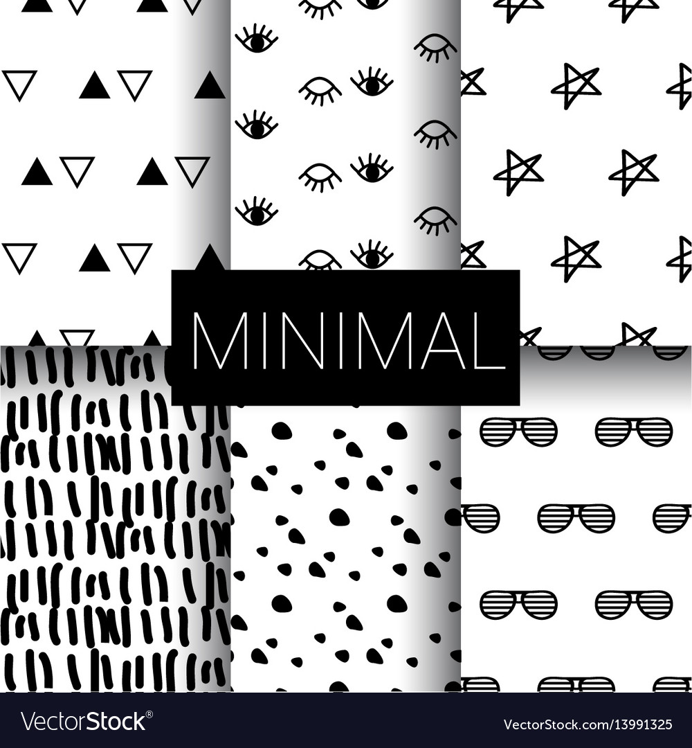 Set of minimal seamless patterns