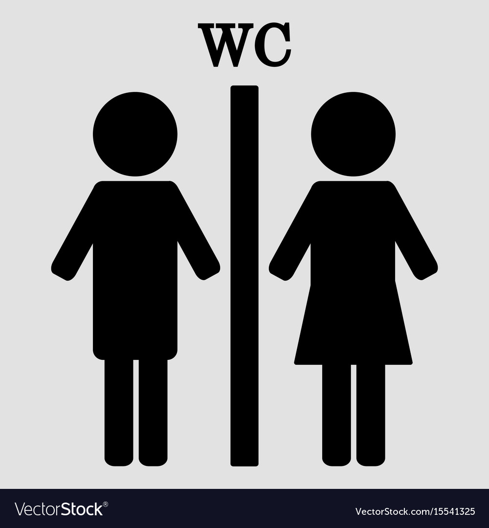 Wc Sign Boy And Girl Toilet Icons Royalty Free Vector Image
