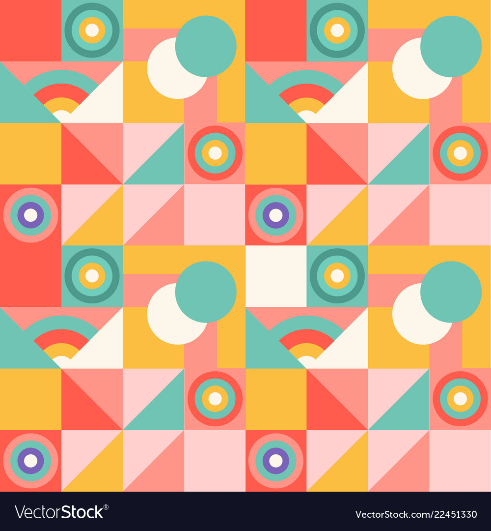 Abstract geometric colorful pattern with