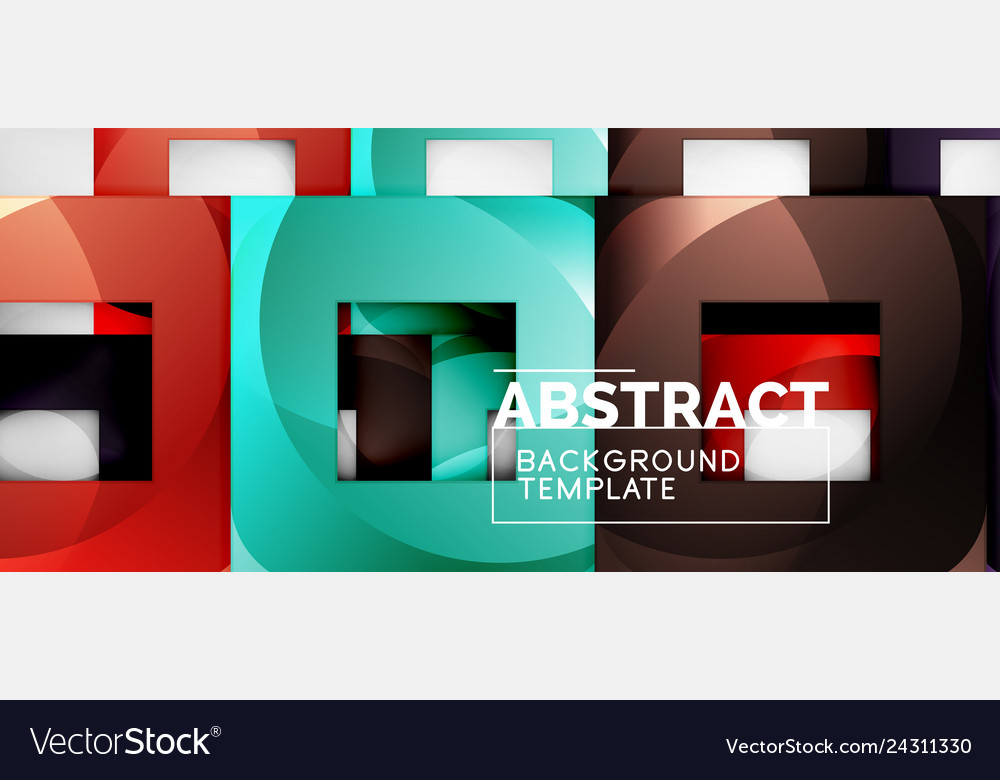Background with color squares composition modern