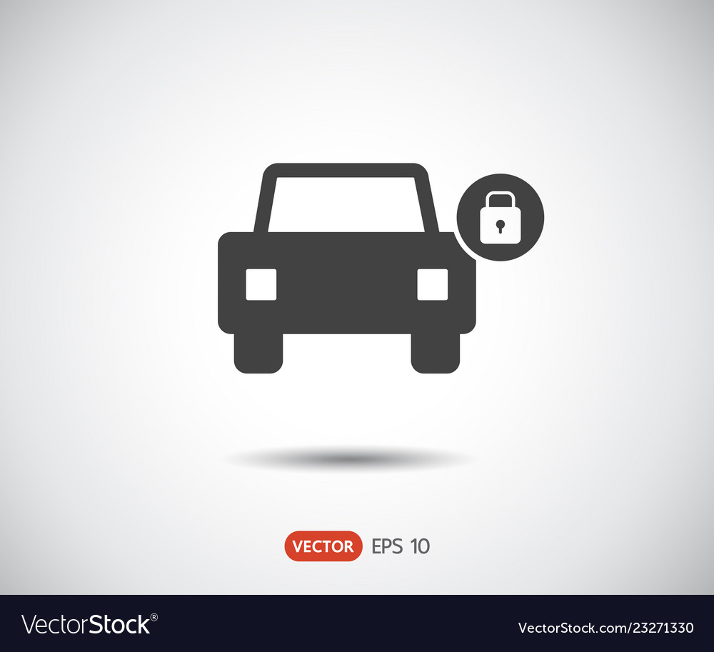 Car lock icon eps