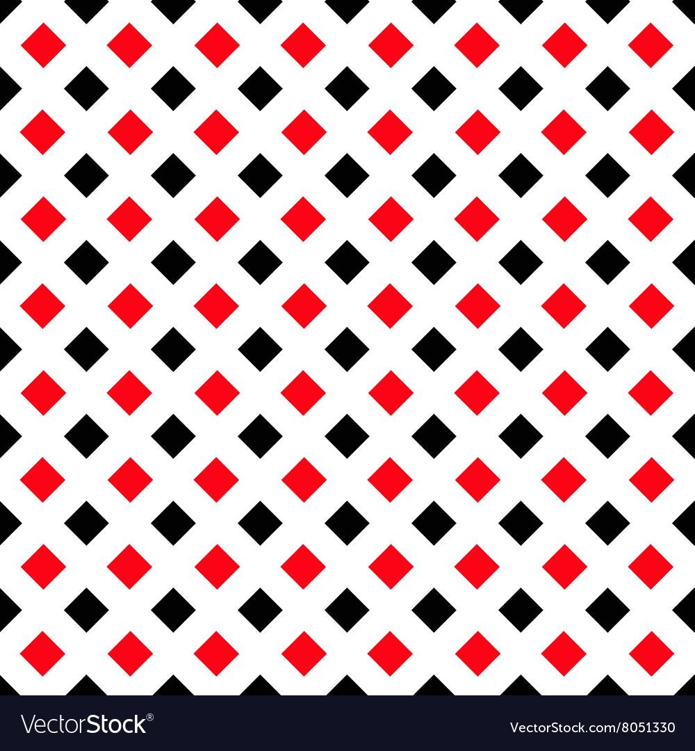 Geometric White Black Red Square Pattern Vector Image