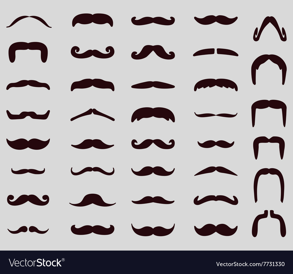 Moustache icon set
