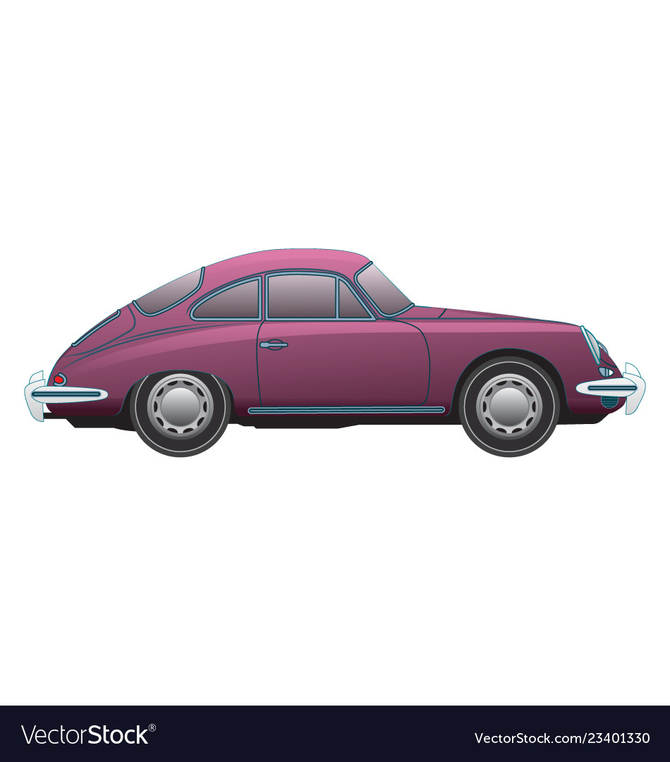 Porsche 356 1964 Side View Vector Image