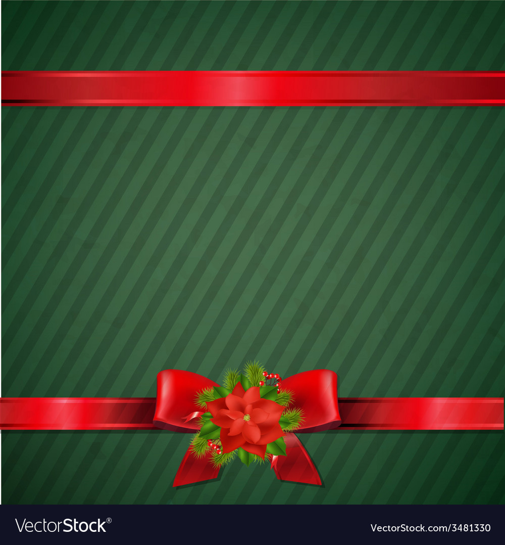 Retro Green Christmas Wallpaper vector image