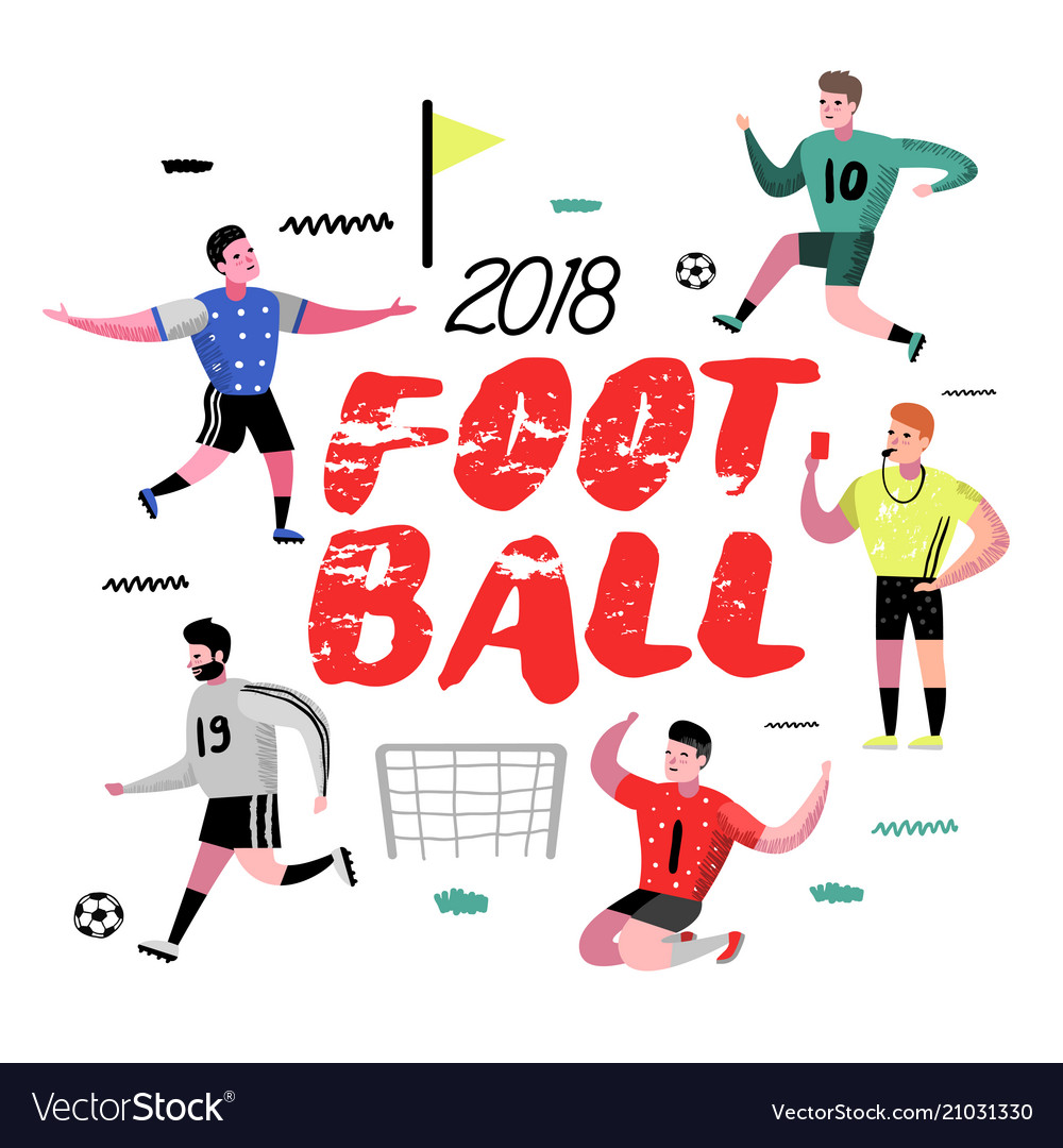 Soccer cartoon player poster football player