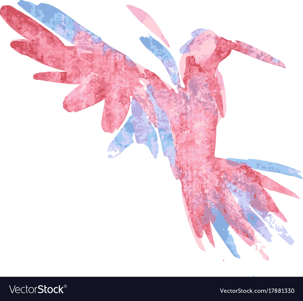 Watercolor-style of bird
