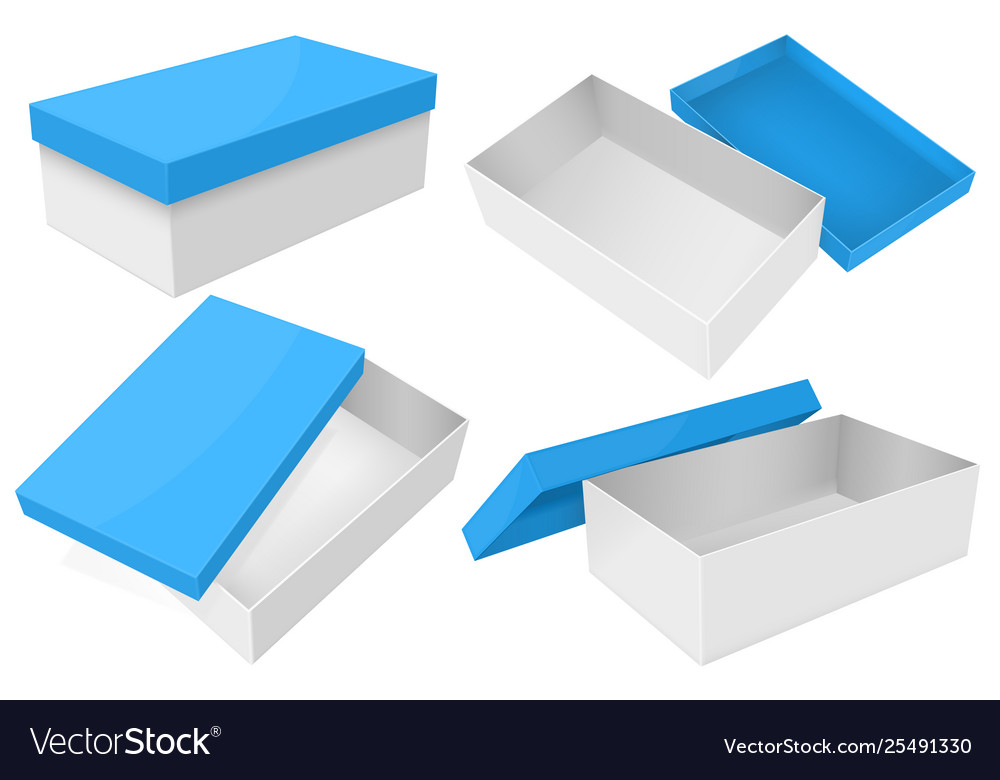 White box with blue lid set gift boxes
