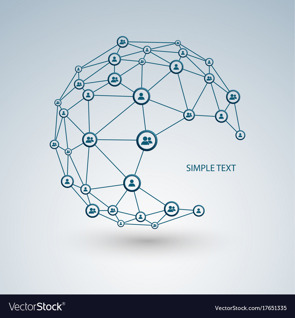 Abstract network connection technology design Vector Image