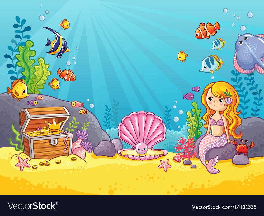 Background with an underwater world