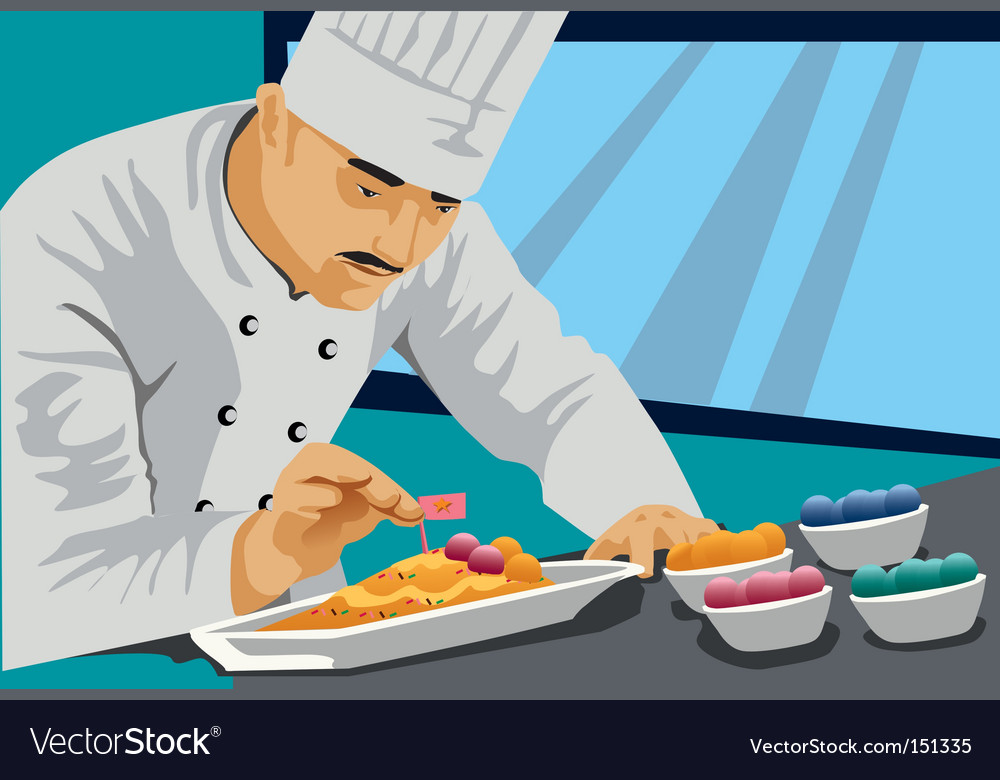 Chef cook food