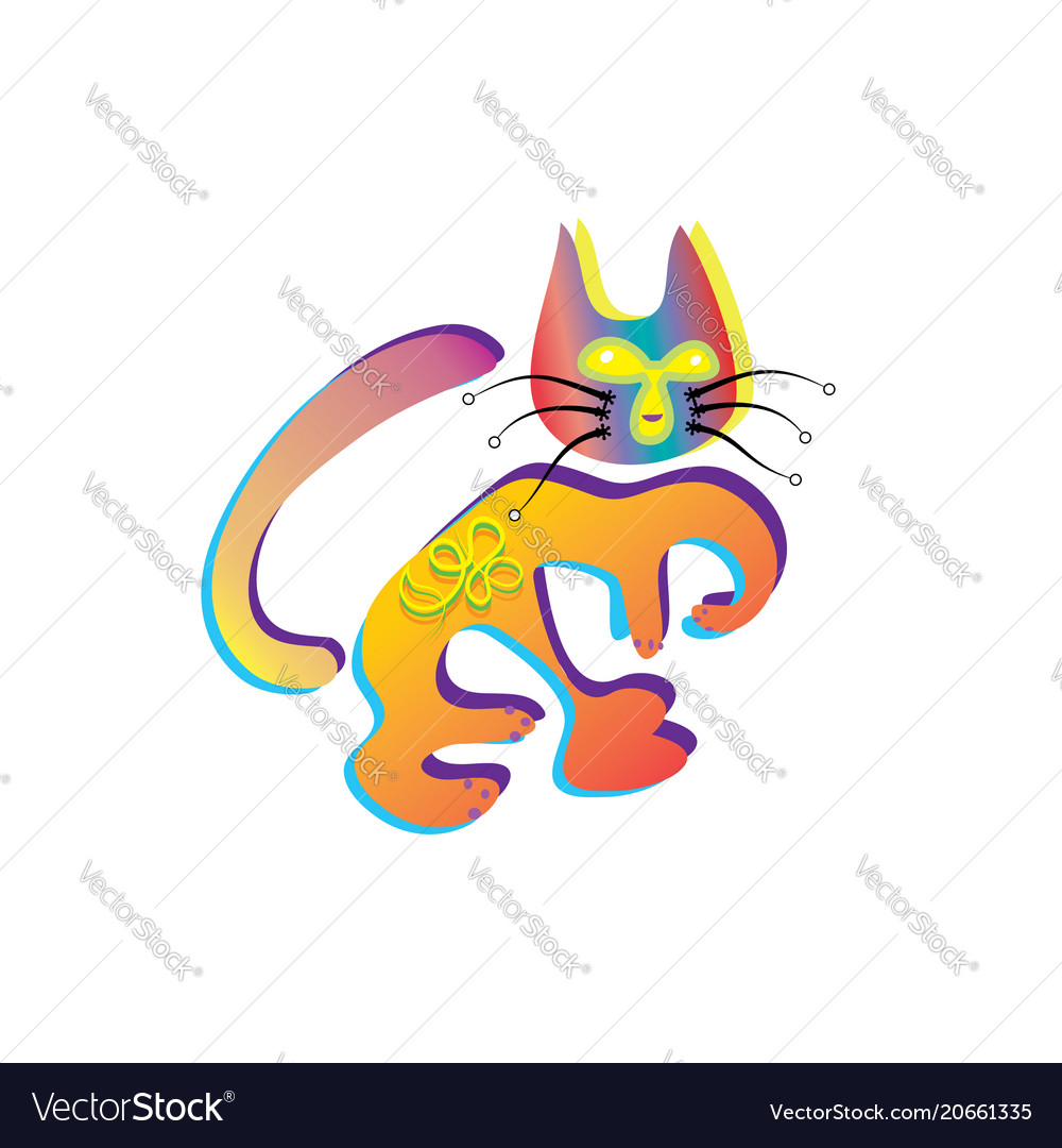 Cute ginger cat in love madly in love emotion