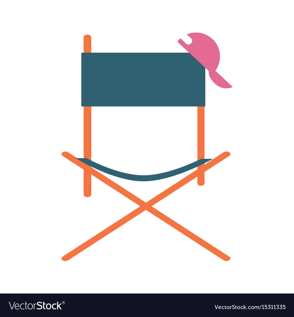 Director movie chair icon vector image