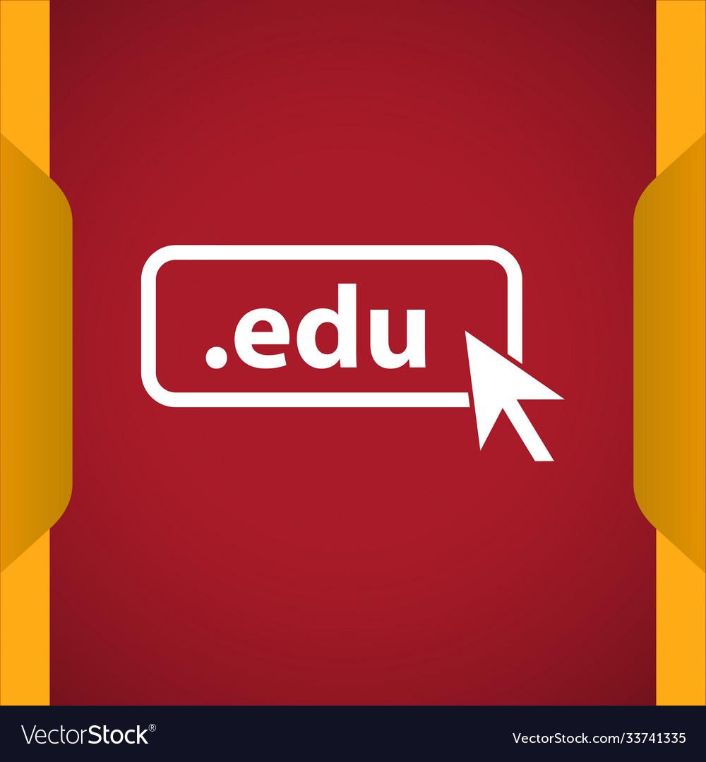 Domain edu icon top-level internet