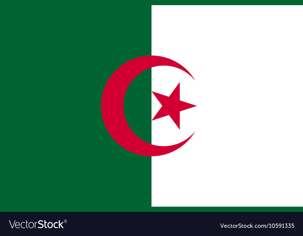Flag of Algeria in correct proportions and colors